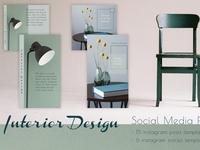 Interior Design - Social Media Pack