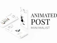 ANIMATED Instagram Minimalist Post