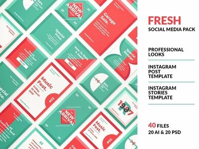 Fresh Social Media Pack