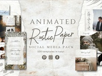 ANIMATED Rustic Paper Social Pack