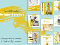 Bright Strokes - Social Media Pack