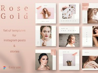 ROSE GOLD Instagram Template