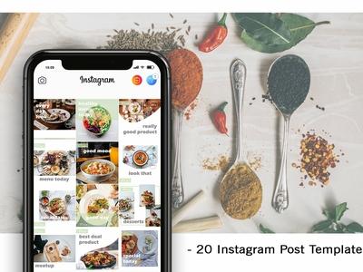 Food Style Instagram Template