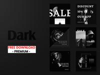 Free Premium Download - Social Media pack - Dark