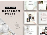 ANIMATED Artistic Instagram Posts