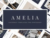 Amelia - Pinterest Templates