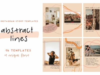 Abstract Lines - Templates + Font