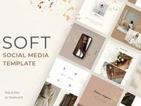 Soft social media template