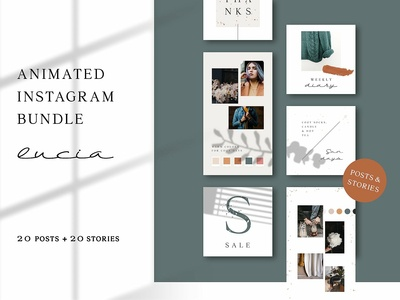 ANIMATED Instagram Bundle – Lucia