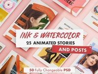 INK & WATERCOLOR animated bundle