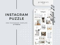 Heart&Soul Instagram Puzzle Template