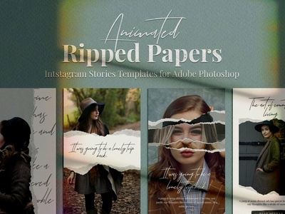 Animated Ripped Paper Stories