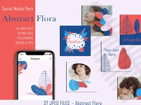 Abstract Flora - Social Media Pack
