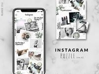 Instagram PUZZLE template - Polaroid