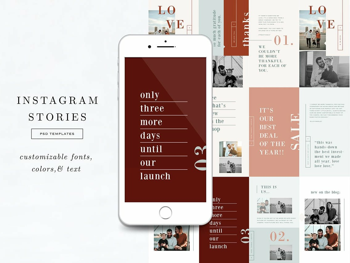 Instagram Stories Templates by Social Media Templates on