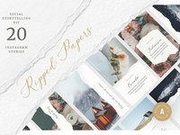 Ripped Papers — Instagram Templates
