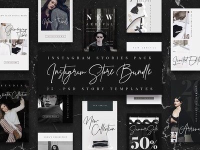 BW Instagram Stories Template/ Store