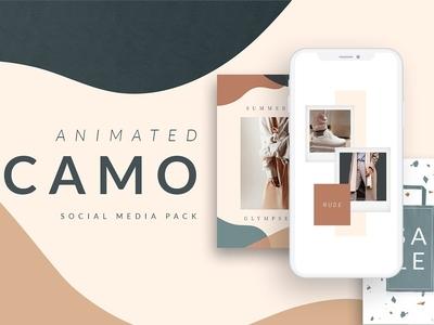 ANIMATED Camo Social Media Pack