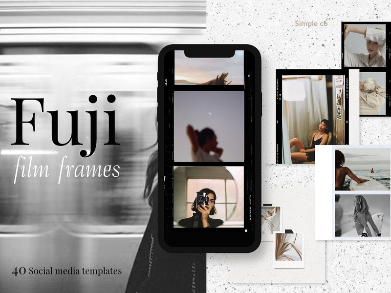 CANVA & PS / Fuji film frames feminine elegant fashion instagram stories social media templates blogger branding templates instagram polaroid frames polaroid social media film instagra fuji film frames film frames fuji film fuiji canva template canva
