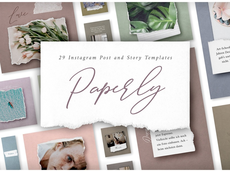 Paperly 1 – Instagram Post Templates paper template paper templates social media template instagram stories instagram posts post template post story template story instagram templates instagram template instagram post template instagram post instagram paperly