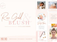 Rose Gold & Blush Social Media Pack