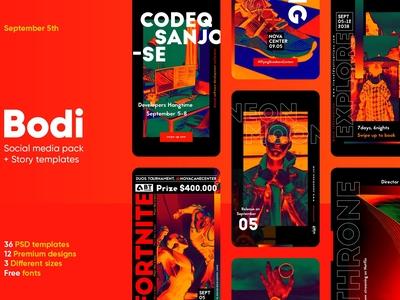 Bodi - Social Media Pack + Stories