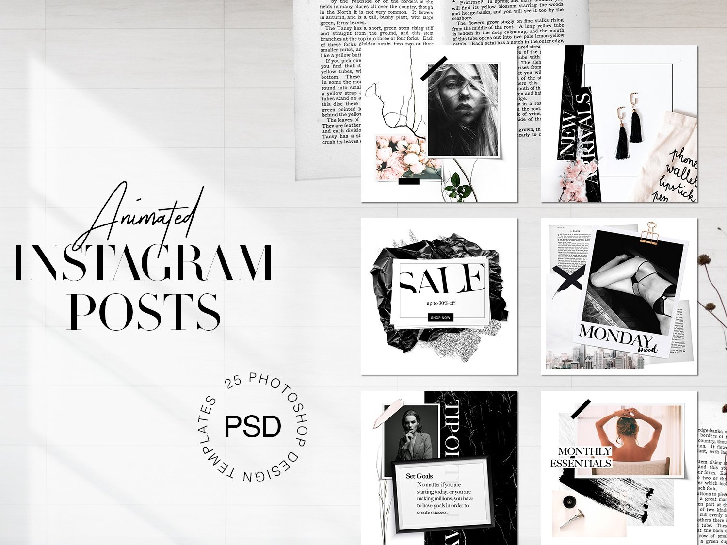 Classy Animated Instagram Posts by Social Media Templates on Dribbble