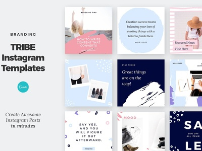 Canva Instagram Post Template Tribe