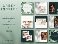 GREEN INSPIRE Instagram Template