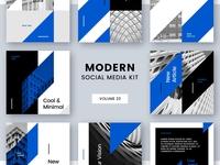 Modern Social Media Kit (Vol. 23)