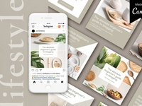 Canva Instagram pack | Lifestyle