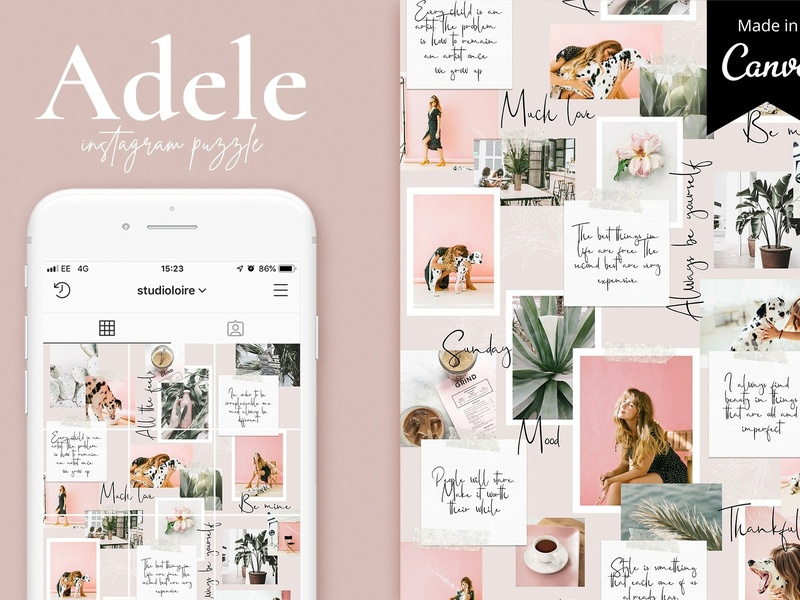Adele Instagram puzzle | CANVA by Social Media Templates on