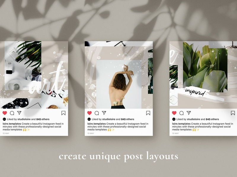 Artiste Instagram puzzle | CANVA by Social Media Templates on Dribbble