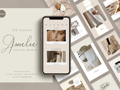 Animated PS/CANVA Amelie - Pack