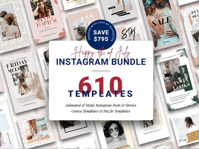 4th of July Instagram Bundle 95% OFF
