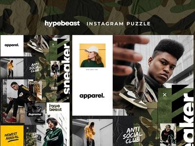 Hypebeast - Instagram puzzle