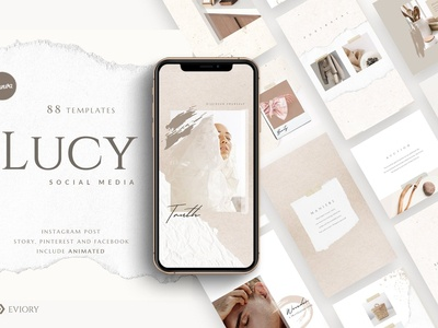 ANIMATED PS & Canva Lucy - Pack