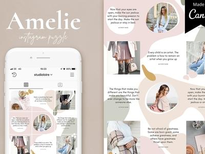 Amelie Instagram puzzle | CANVA