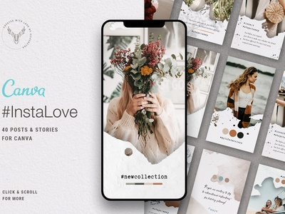 #InstaLove - Canva Instagram Pack