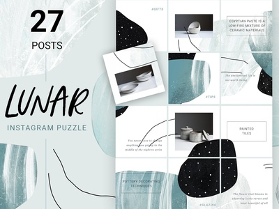 Abstract Instagram Puzzle Design