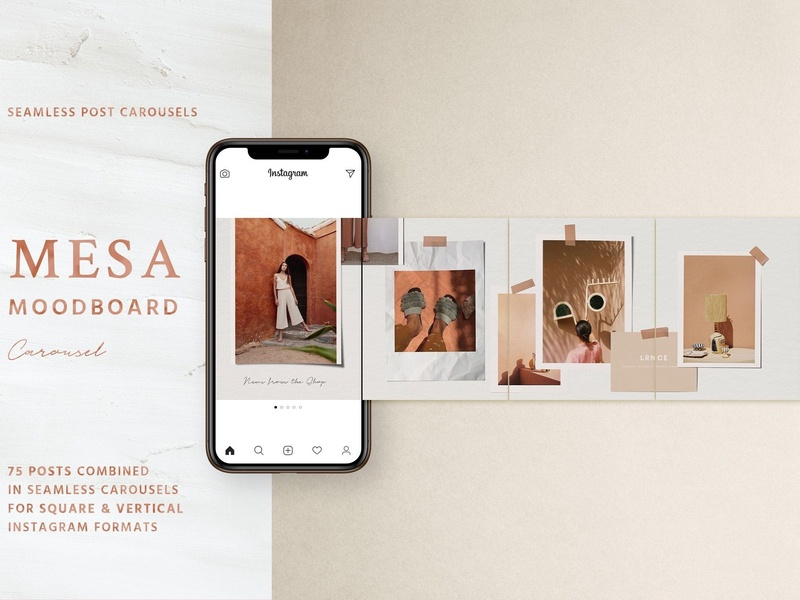 Mesa - Carousel Post Templates stories clean social media pack branding blogger instagram template modern instagram posts photoshop fashion blog minimal instagram story moodboard template moodboard instagram carouse template carousel carousel post template carousel post