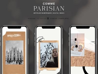 Paper Paint Instagram + Template