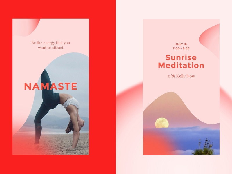 Asana - Social Media Kit blogger templates instagram minimalist minimal clean light instagram template yoga icon nature nautical asana poster mockup story yoga social media templates social media template social media kit social media stylish