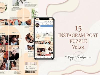 Instagram Post Puzzle Vol.01