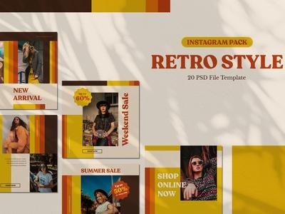 Retro Style - Instagram Pack