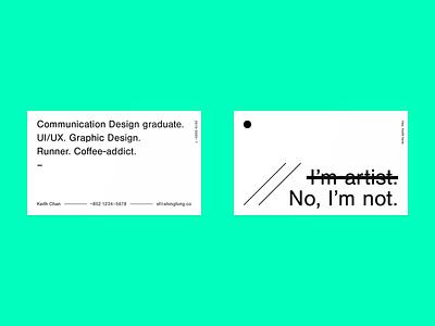 Business Card Design design namecard minimal card