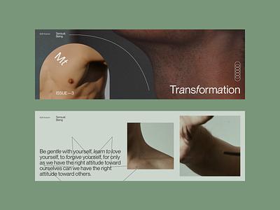 Transformation graphic design visual layout design minimal