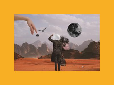 Desert Odyssey graphic digital art surreal art design opensea nftart nft