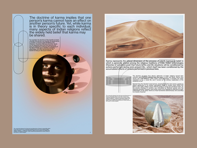 Karma – Between Death and Life visual colour layout design minimal