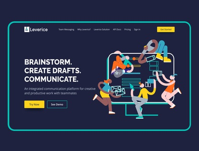 Leverice — Redesign Homepage headers homepage graphics website uidesign concept redesign illustration colorful web
